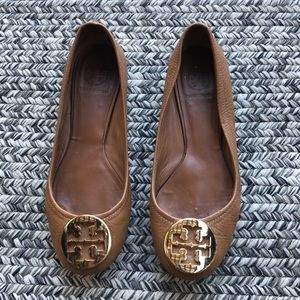 Tory Burch brown leather flats size 7.5M